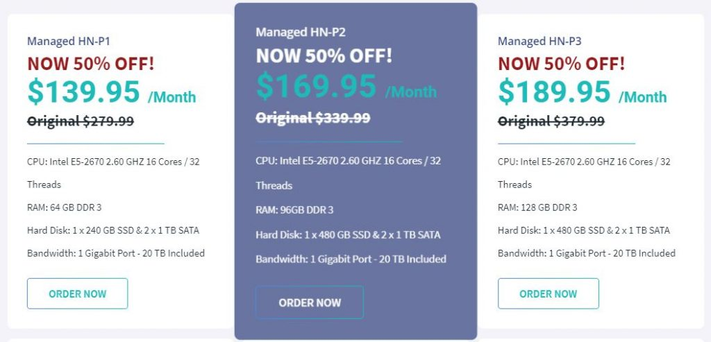 managed dedicated servers hostnoc deals