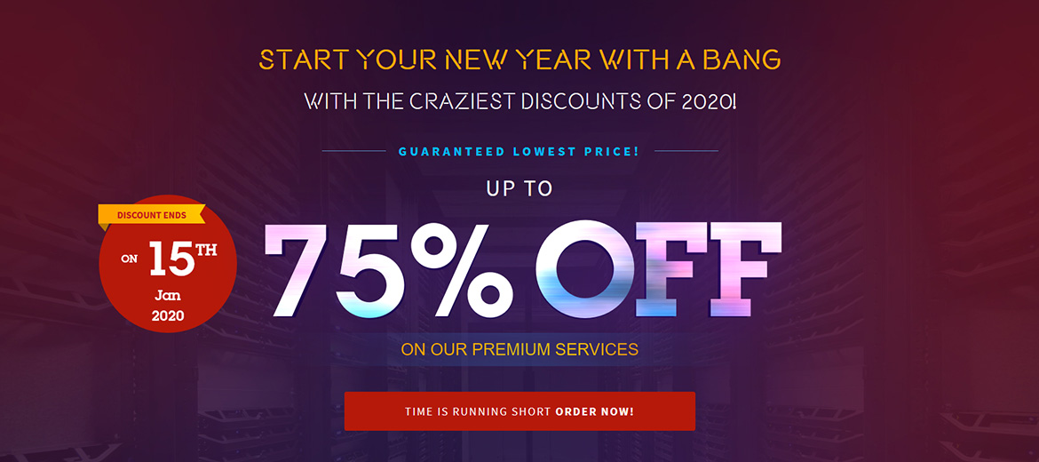 Start Your New Year with a Bang with HOSTNOC Crazy Discounts on Dedicated Servers